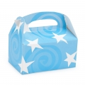Favor Boxes ~ Light Blue with White Stars Empty